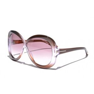 New Tom Ford Margot TF226 50Z Brown Sunglasses
